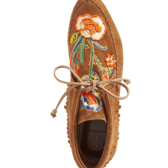 3420dd3e360 TORY BURCH Huntington booties embroidered Fringe